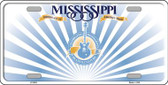 Mississippi Background Metal Novelty License Plate