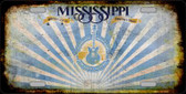 Mississippi Rusty Background Metal Novelty License Plate