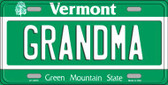 Grandma Vermont Background Metal Novelty License Plate