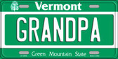 Grandpa Vermont Background Metal Novelty License Plate