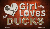 This Girl Loves Her Ducks Novelty Metal Magnet