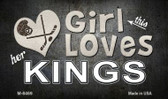 This Girl Loves Her Kings Novelty Metal Magnet