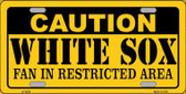 Caution White Sox Fan Metal Novelty License Plate LP-2629