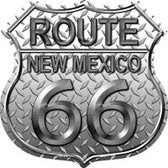 Route 66 New Mexico Diamond Highway Shield Novelty Metal Magnet