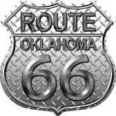 Route 66 Oklahoma Diamond Highway Shield Novelty Metal Magnet