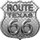 Route 66 Texas Diamond Highway Shield Novelty Metal Magnet
