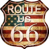 Route 66 American Vintage Highway Shield Novelty Metal Magnet
