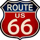 Route 66 Vintage Metal Highway Shield Novelty Metal Magnet