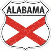 Alabama State Flag Highway Shield Novelty Metal Magnet