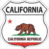 California State Flag Highway Shield Novelty Metal Magnet