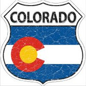Colorado State Flag Highway Shield Novelty Metal Magnet