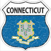 Connecticut State Flag Highway Shield Novelty Metal Magnet