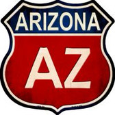 Arizona Highway Shield Novelty Metal Magnet
