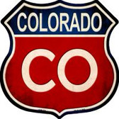 Colorado Highway Shield Novelty Metal Magnet