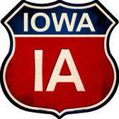 Iowa Highway Shield Novelty Metal Magnet