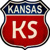 Kansas Highway Shield Novelty Metal Magnet