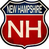 New Hampshire Highway Shield Novelty Metal Magnet