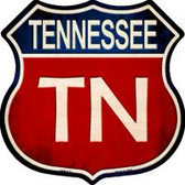 Tennessee Highway Shield Novelty Metal Magnet
