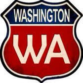 Washington Highway Shield Novelty Metal Magnet