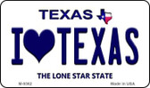 I Love Texas Texas Background Novelty Metal Magnet