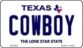 Cowboy Texas Background Novelty Metal Magnet