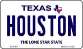 Houston Texas Background Novelty Metal Magnet