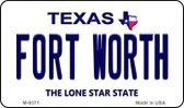 Fort Worth Texas Background Novelty Metal Magnet