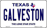 Galveston Texas Background Novelty Metal Magnet