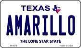Amarillo Texas Background Novelty Metal Magnet
