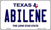 Abilene Texas Background Novelty Metal Magnet