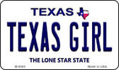 Texas Girl Texas Background Novelty Metal Magnet