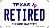 Retired Texas Background Novelty Metal Magnet