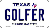 Golfer Texas Background Novelty Metal Magnet