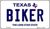 Biker Texas Background Novelty Metal Magnet