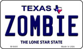 Zombie Texas Background Novelty Metal Magnet M-9400