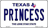 Princess Texas Background Novelty Metal Magnet
