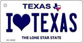 I Love Texas Texas Background Novelty Key Chain