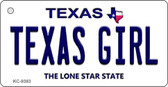 Texas Girl Texas Background Novelty Key Chain