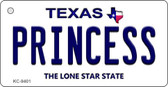 Princess Texas Background Novelty Aluminum Key Chain KC-9401