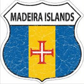 Madeira Islands Highway Shield Novelty Metal Magnet