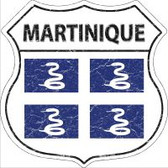 Martinique Highway Shield Novelty Metal Magnet