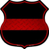 Thin Red Line Highway Shield Novelty Metal Magnet