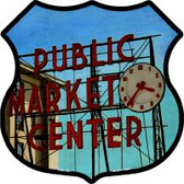 Market Place Highway Shield Novelty Metal Magnet