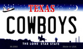 Cowboys Texas State Background Novelty Metal Magnet