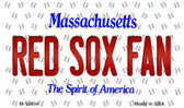 Red Sox Fan Massachusetts Background Novelty Metal Magnet