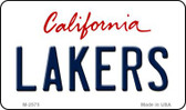 Lakers California Novelty State Background Metal Magnet