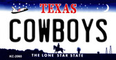 Cowboys Texas State Background Novelty Metal Key Chain