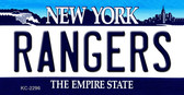 Rangers New York State Background Metal Key Chain