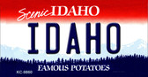 Idaho State Background Metal Novelty Key Chain