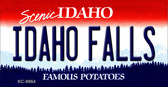 Idaho Falls Idaho State Background Metal Novelty Key Chain